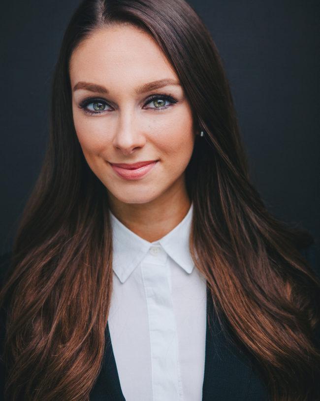 striking female real estate agent