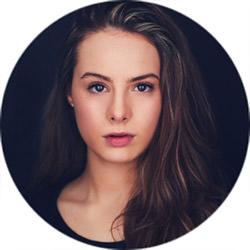 intense actress with long hair