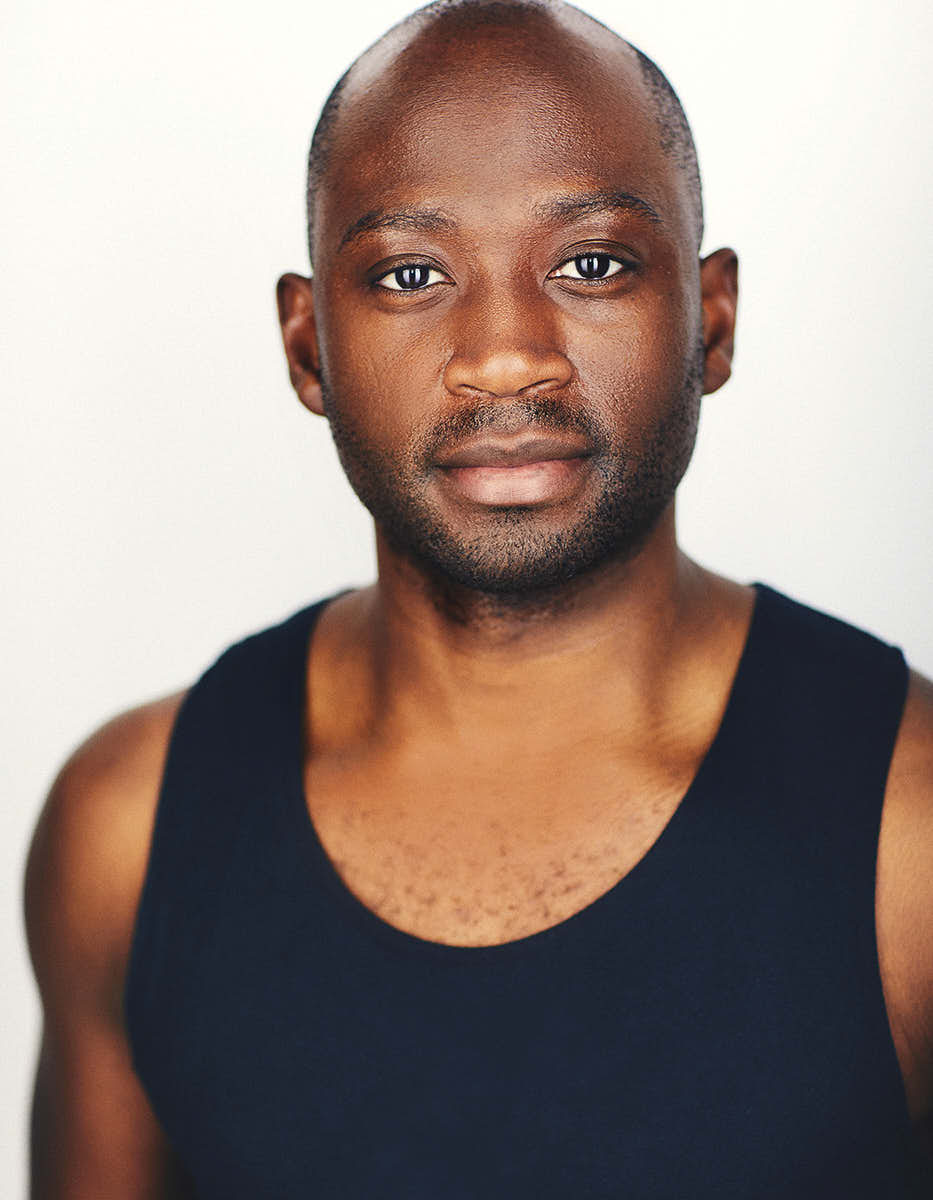 black actor in a tank top