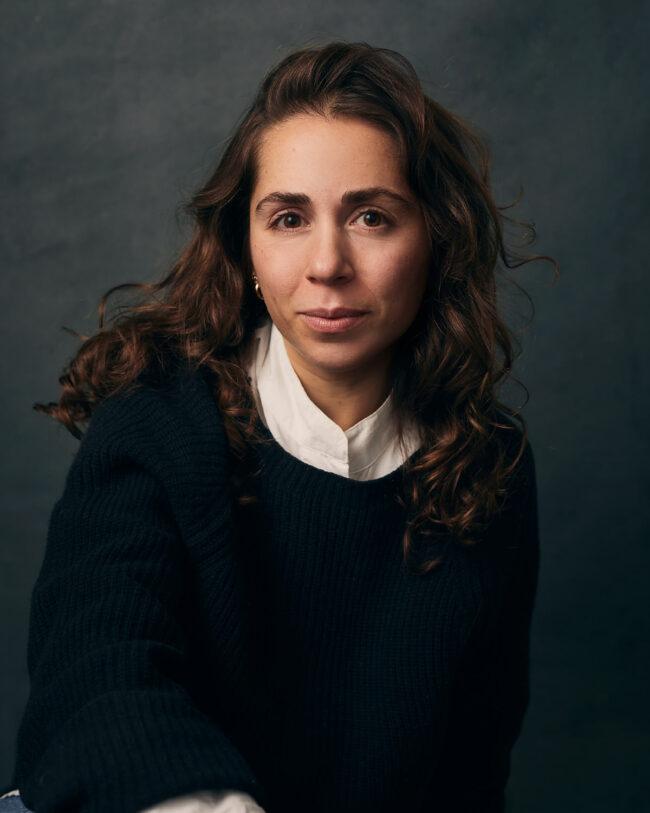 woman sitting for a portrait