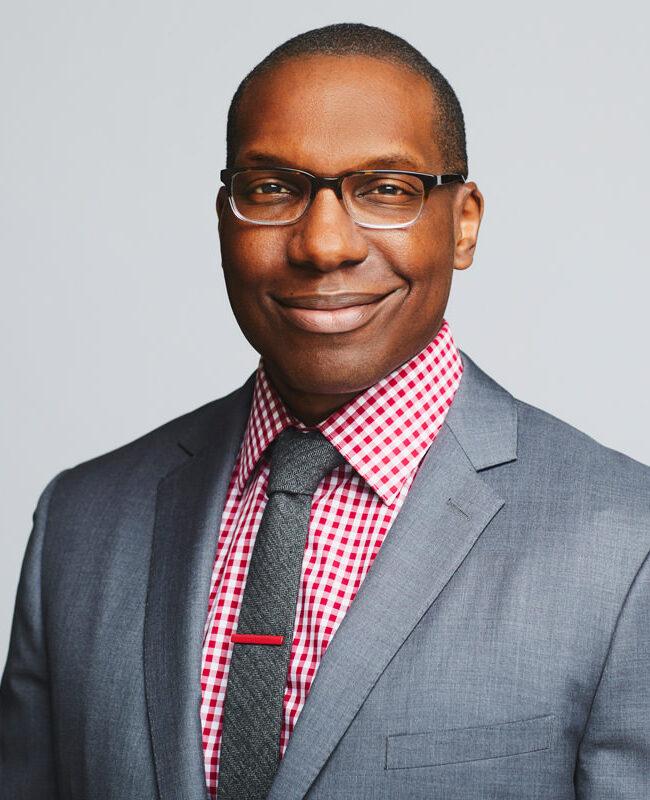 black man in stylish suit